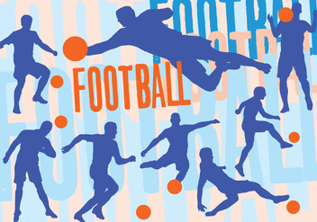 Soccer Silhouette Set - Free vector #405837