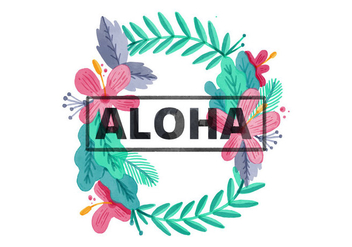 Free Hawaiian Lei Watercolor Background - Free vector #405897