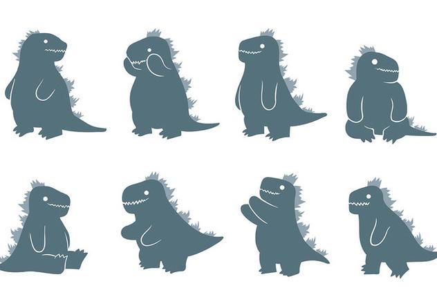 Free Godzilla Icons Vector - Free vector #406007