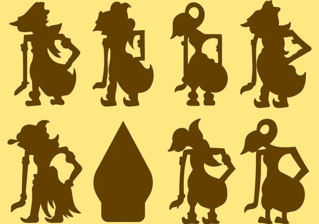 Free Wayang Silhouette Vector - Free vector #406137