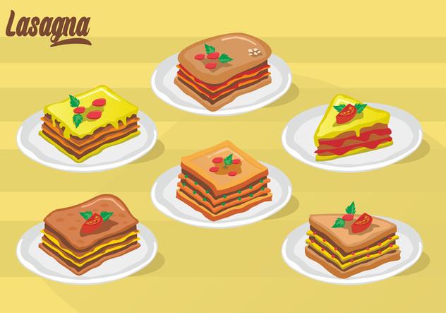 Lasagna Vector Design - Free vector #406177