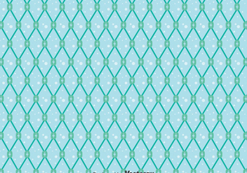 Blue Fish Net Seamless Pattern - vector gratuit #406187