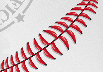 Baseball Laces Vector Wallpaper - vector gratuit(e) #406357