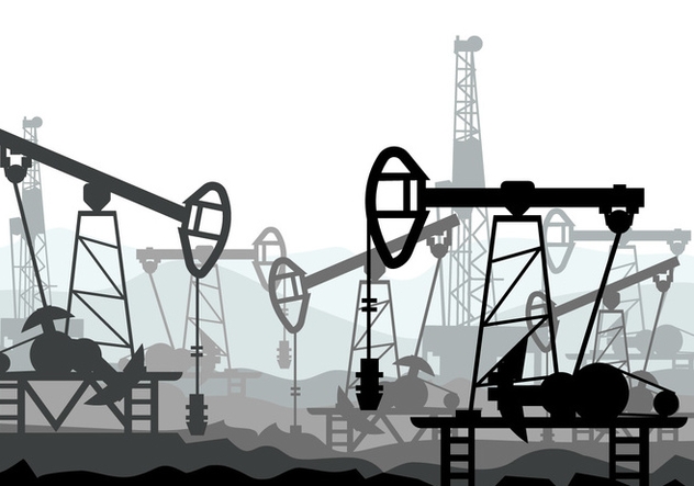 Oil Field Vector Illustration - Free vector #406487