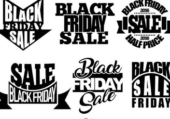 Set Of Black Friday Templates - Free vector #406627