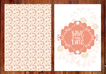 Floral Wedding Save the Date Card - Free vector #406687
