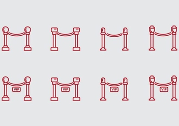 Velvet Rope Icon - Free vector #406827
