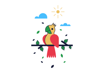 Free Parrot Vector - Kostenloses vector #406917