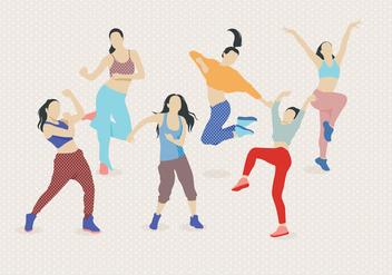 Zumba Dancing Vector - vector gratuit #406937