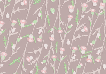 Thistle Pattern Vintage Vector - бесплатный vector #406947