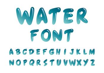 Water Font Vector - Free vector #406977