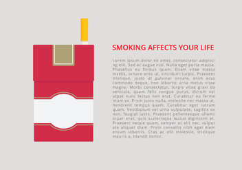 Cigarette Pack Infographic Template - vector gratuit #407057