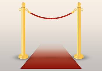 Velvet Rope Gold Text Template - Free vector #407067