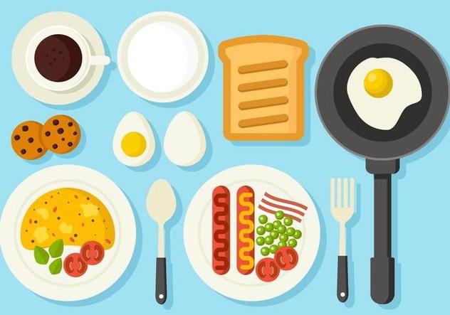 Free Healthy Breakfast Concept Vector - Free vector #407107