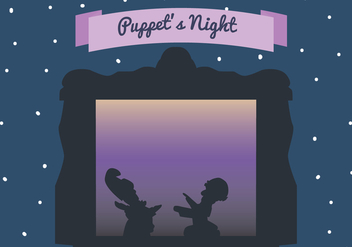 Puppet's Night Vector Scene - Free vector #407157