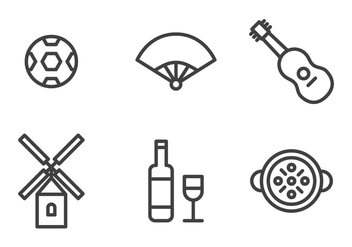 Spanish Icon Set - vector #407207 gratis