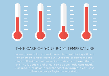 Thermometers and Text - vector gratuit #407227