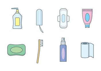 Women's Hygiene Vector - Free vector #407487