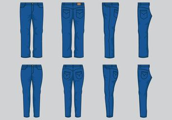 Blue Jean Vector - Kostenloses vector #407507
