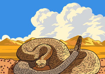 Rattlesnake Curled - Free vector #407707
