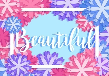 Abstract Beautiful Floral Vector - Kostenloses vector #407767
