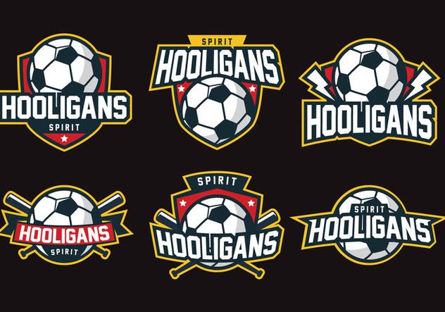 Hooligans Badge - vector #407817 gratis