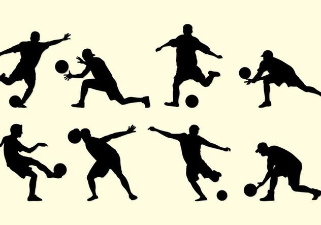Silhouette Of Kickball Players - vector #407837 gratis
