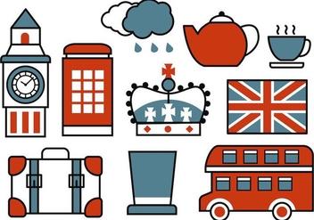 Free Retro British Icons Vector - Free vector #407887