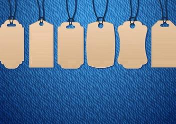 Free Cardboard Pricetag Vector - Kostenloses vector #407897