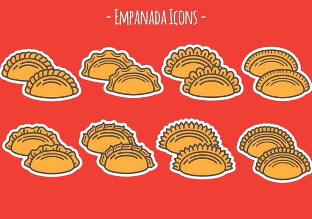 Empanada Icons - vector #407927 gratis