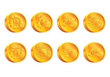 Quetzalcoatl Coin Vector - vector #408157 gratis