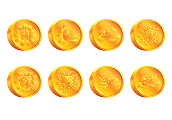 Quetzalcoatl Coin Vector - Free vector #408157