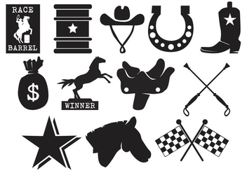 Barrel Racing Icon - Free vector #408227