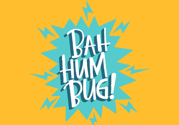 Bah Hum Bug Lettering - vector gratuit #408277