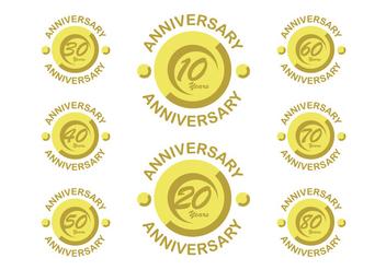 Happy anniversary vectors - vector #408377 gratis