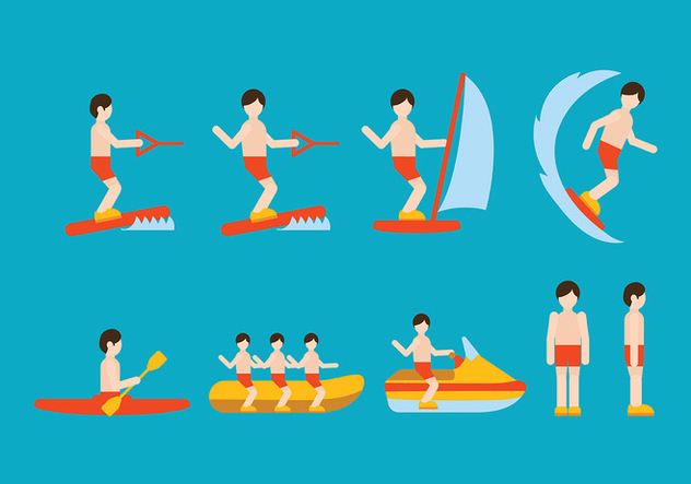 Water Sports Vector - Free vector #408417