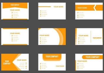 Free Business Card Vector Template - vector gratuit #408547
