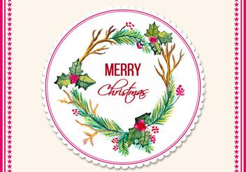 Free Vector Watercolor Christmas Frame - Free vector #408767