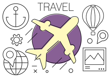 Free Travel Icons - vector #408827 gratis