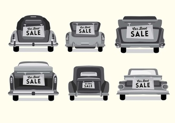 Vintage Car Boot Vector - Free vector #408877