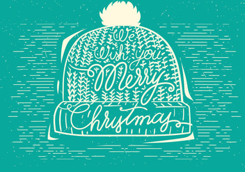 Free Christmas Vector Hat Illustration - Free vector #408967