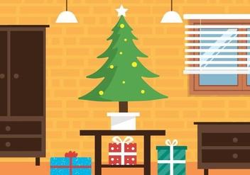Free Christmas Vector Interior - Free vector #409077