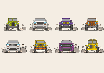 Vector Illustration of SUV Car or Jeep - Kostenloses vector #409217