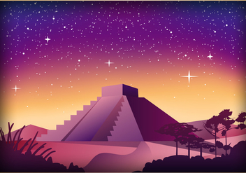 Piramide Scene Illustration - бесплатный vector #409557