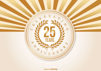 Beautiful 25 Year Anniversary Illustration - Free vector #409587