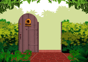 Garden Open Gate - vector gratuit #409787