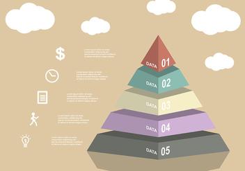 Piramide Chart Vector - Kostenloses vector #409947