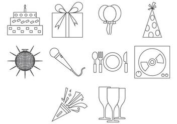 Free Party Icon Vector - Kostenloses vector #410317