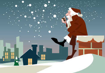 Santa Claus Christmas Vector - бесплатный vector #410437