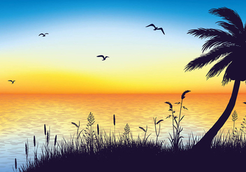Sea Oats Silhouette Free Vector - Free vector #410967